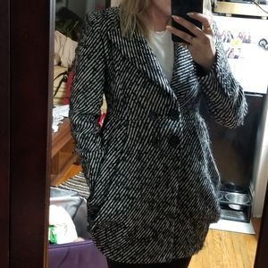 Nanette lepore wool double breasted coat